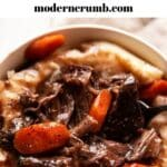 red wine braised short ribs with mashed potatoes
