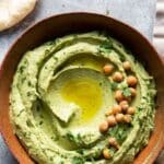 cilantro jalapeno hummus with a title text overlay