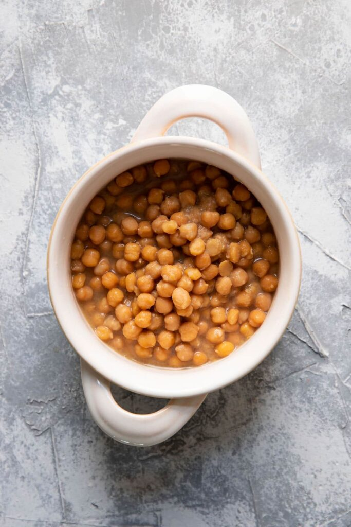 cooked chickpeas in a bowl