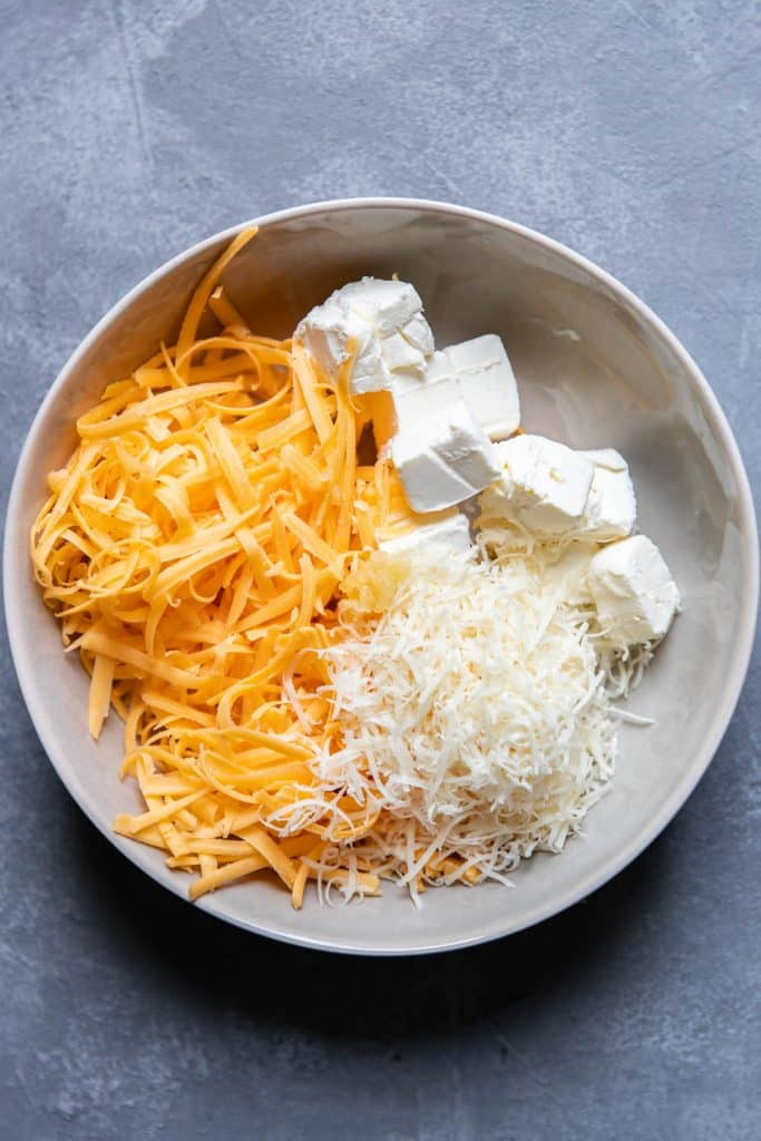 cheeses in a bowl