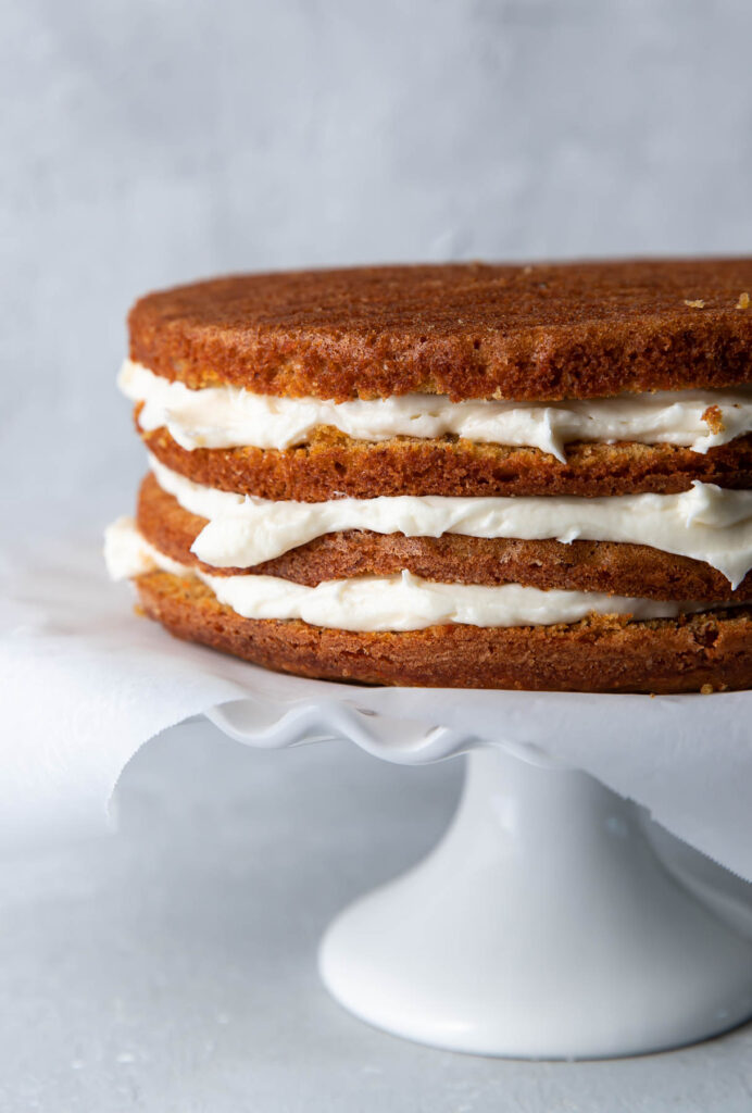 carrot cake layers.