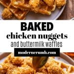 baked chicken and waffles
