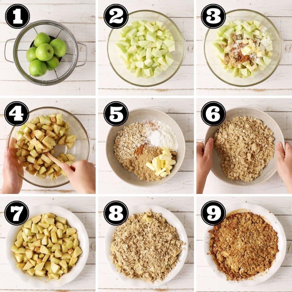how to make an apple crisp visual