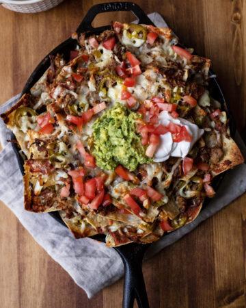 carnitas skillet nachos