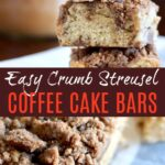 coffee cake bars with streusel topping