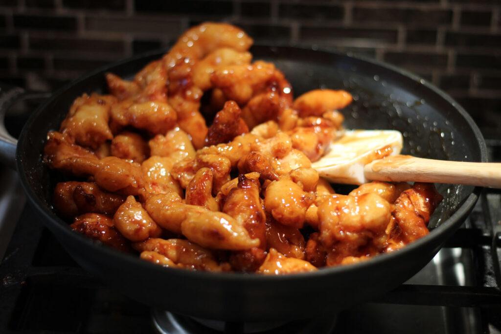 honey sesame chicken  modern crumb