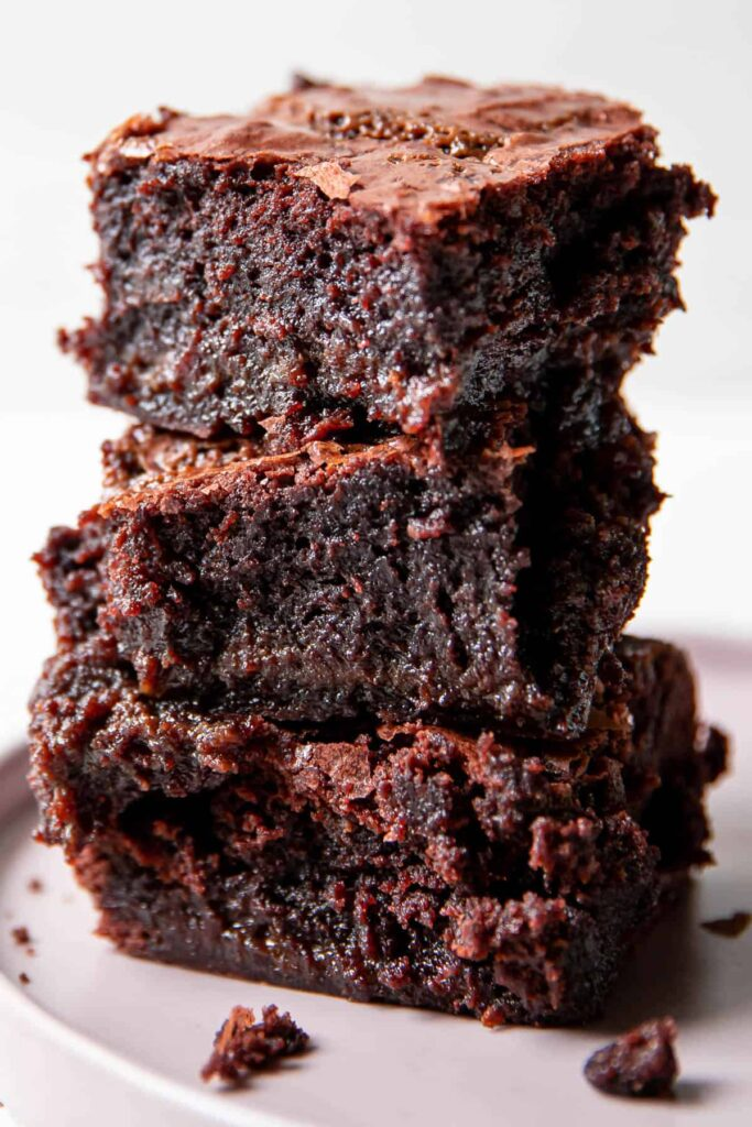 Double Chocolate Fudge Salted Caramel Brownies Modern Crumb