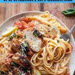linguine pasta with chicken tomatoes and lemon sauce