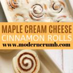 maple cream cheese cinnamon rolls