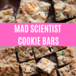 Scrumptious cookie bars filled with marshmallows, oreos and mms