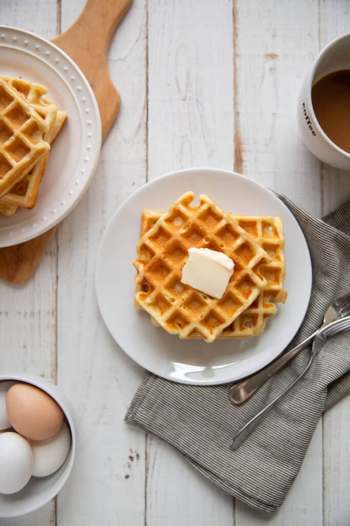 easy buttermilk waffles modern crumb