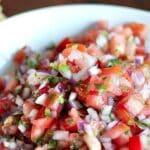 homemade pico de gallo salsa in a bowl