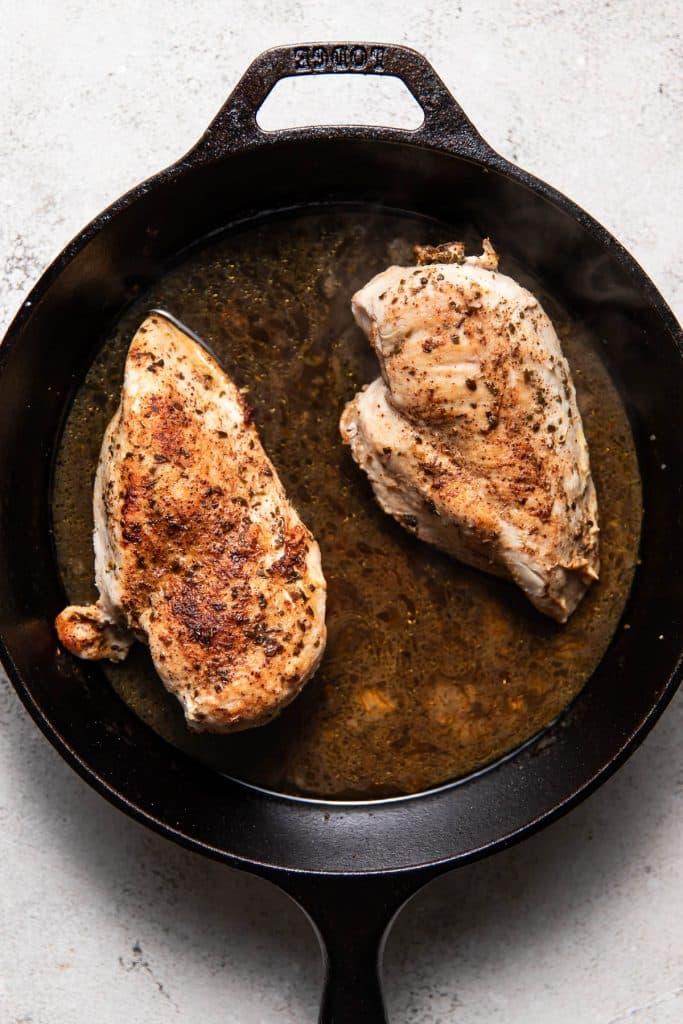 chicken in a skillet