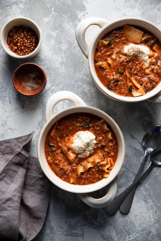 Modern Crumb Portfolio Images - lasagna soup