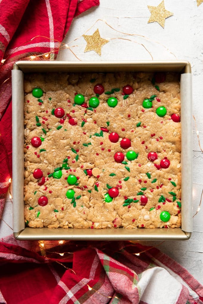 christmas peanut butter cookie bars