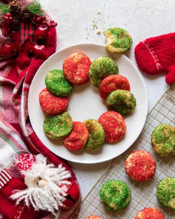 christmas snickerdoodle cookies