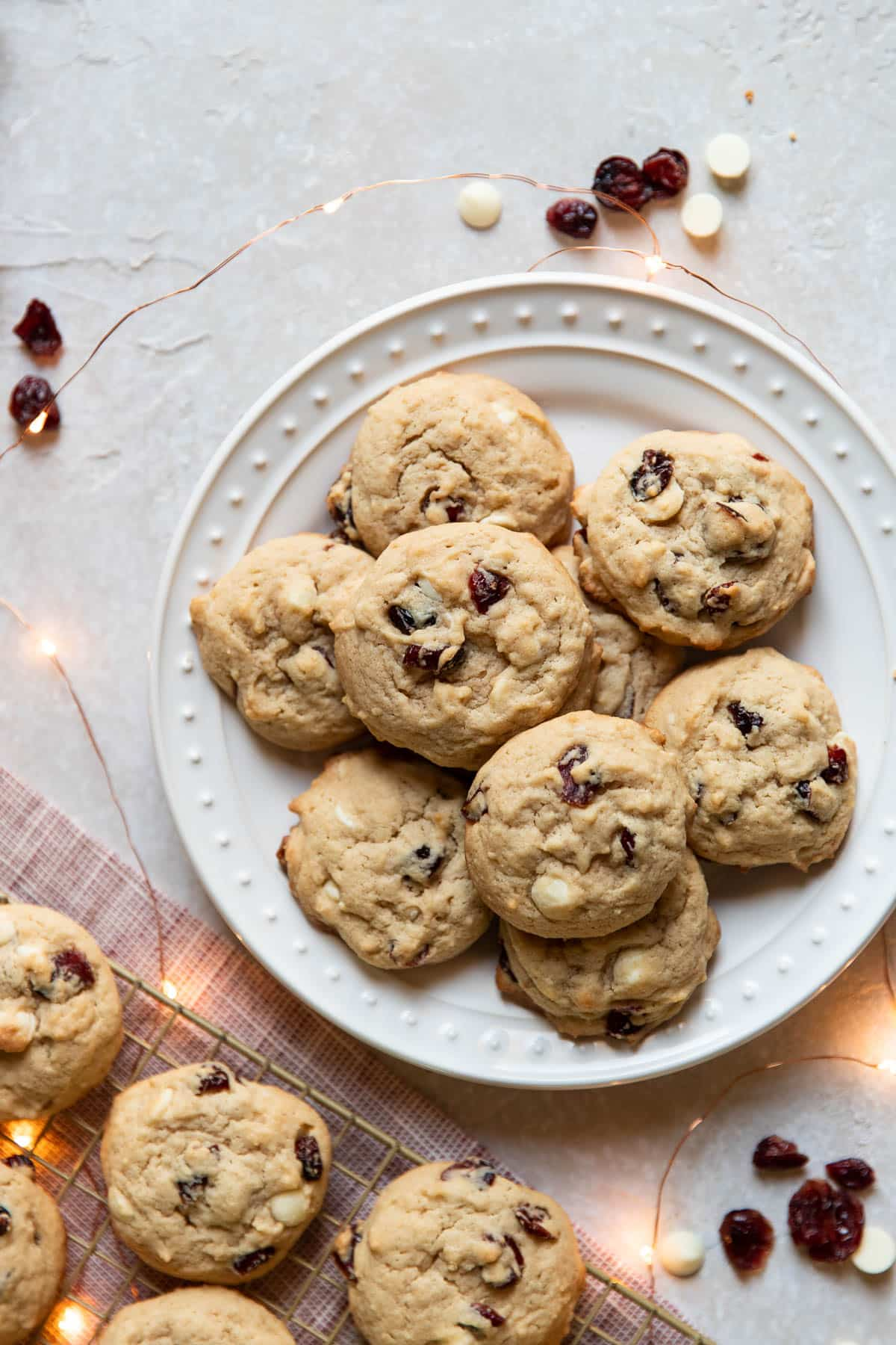 cranberry cheesecake cookies