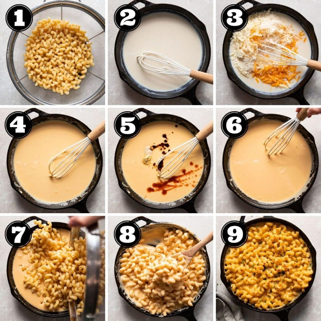 baked mac and cheese visual step by step instruction