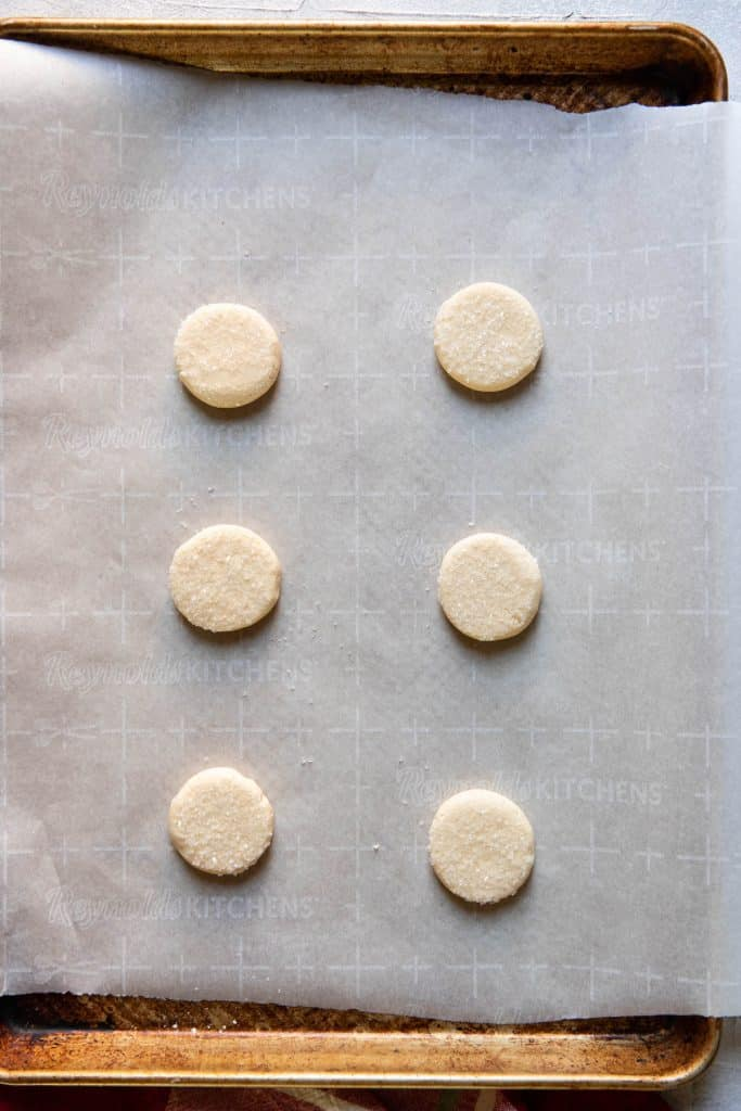 butter cookies before baking