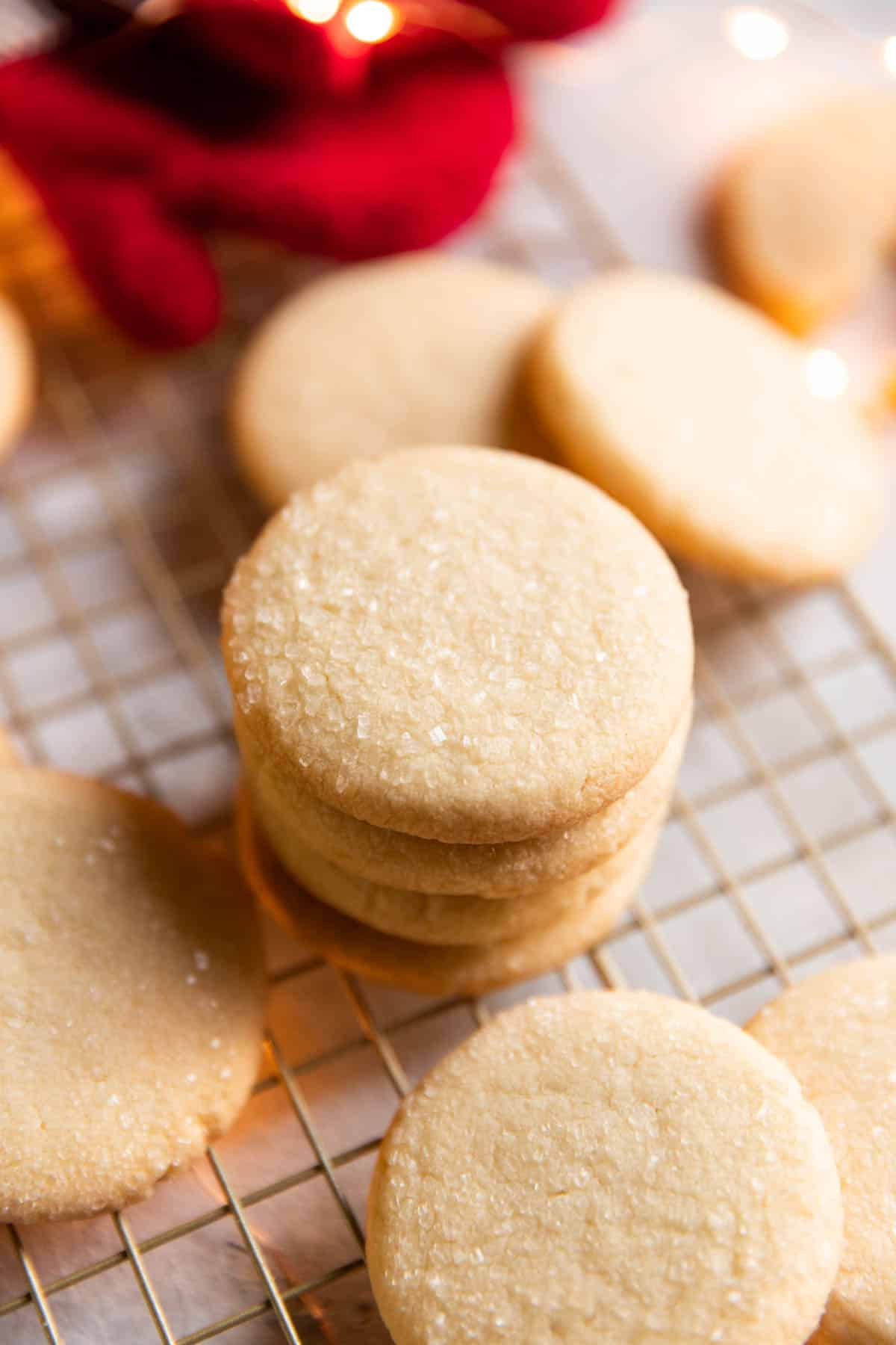 stack of butter cookies