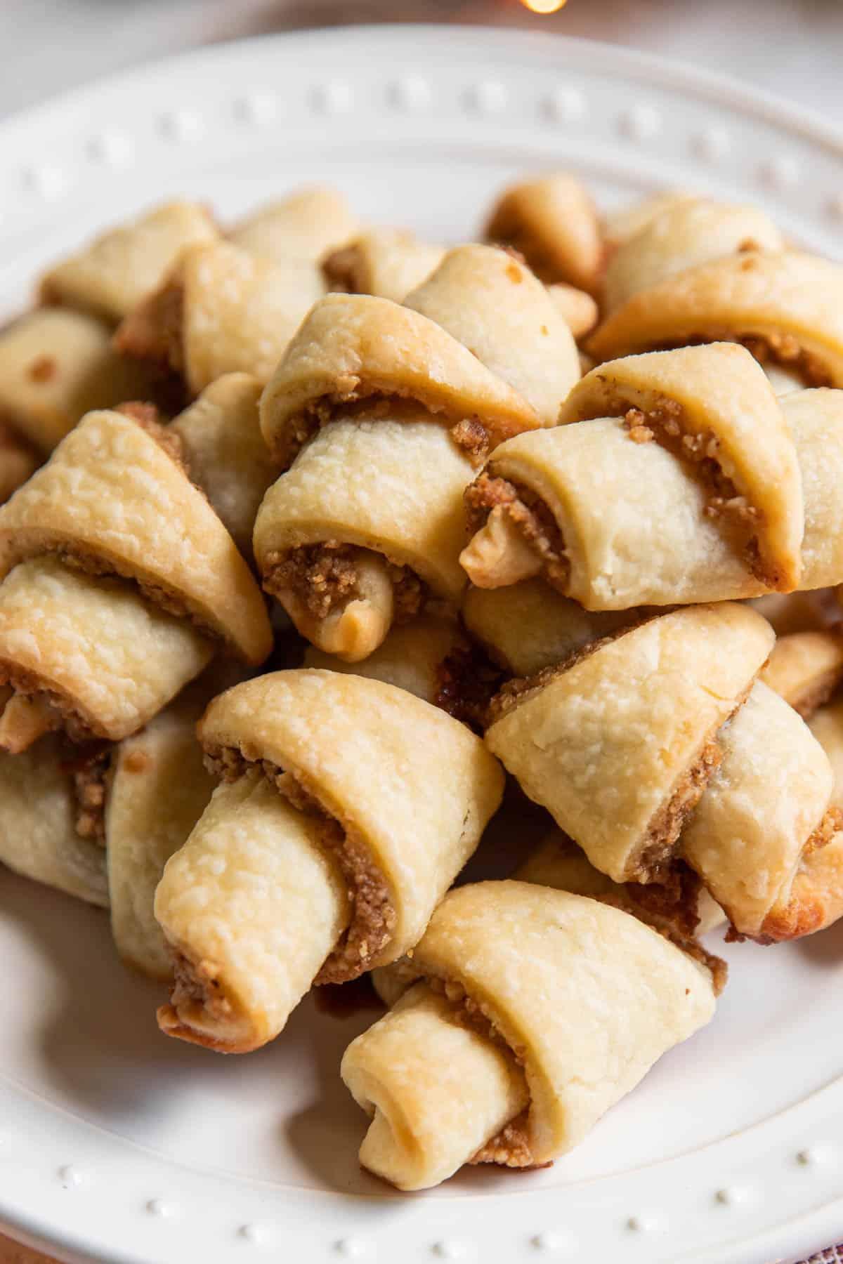 brown sugar walnut rugelach cookies