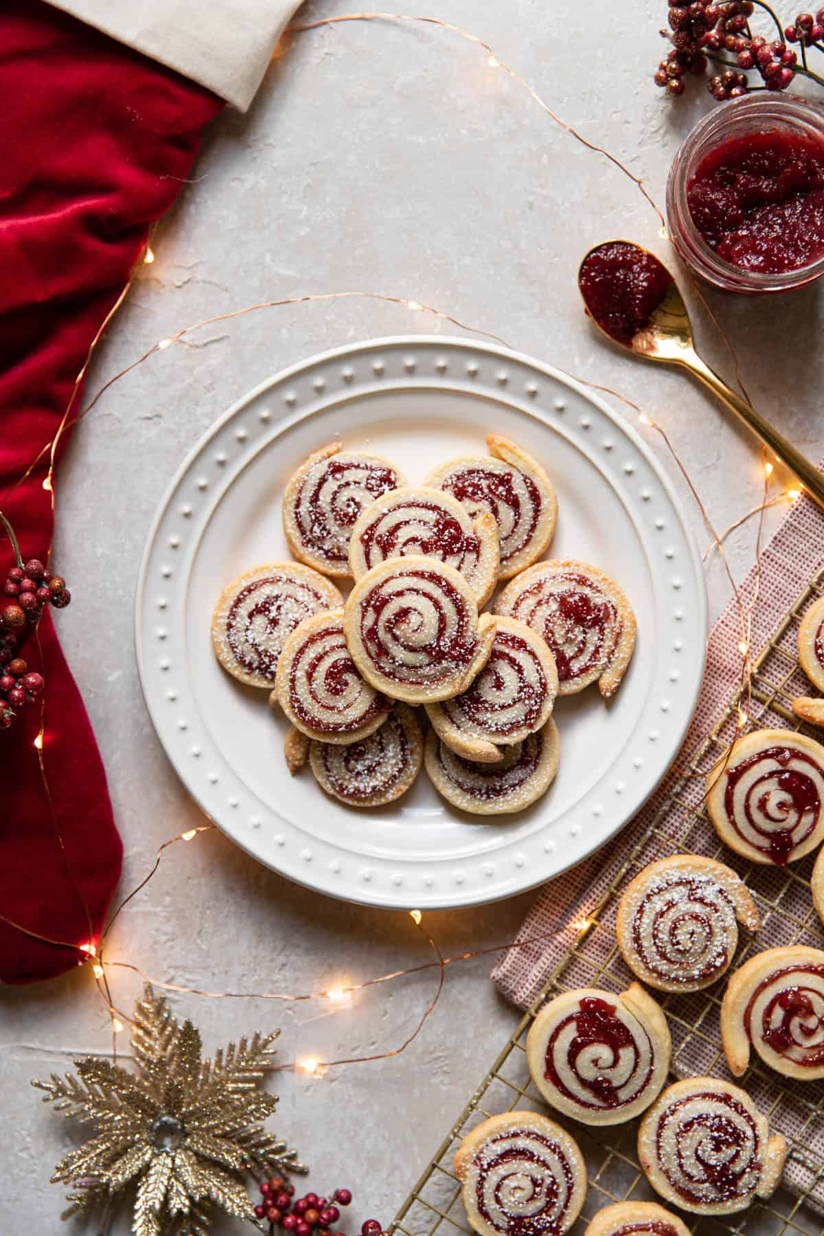cream cheese jam pinwheel cookies.