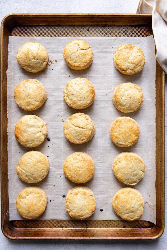 Irish scone after baking on cookie sheet.