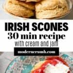 Plate of irish scones.