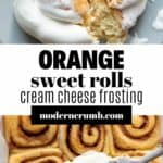 orange sweet rolls with frosting