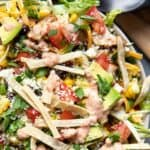 chicken taco salad.