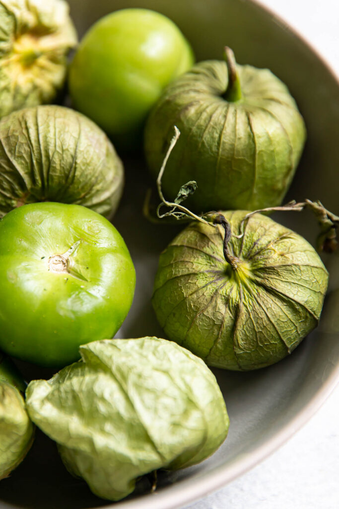 tomatillos in a bowl.