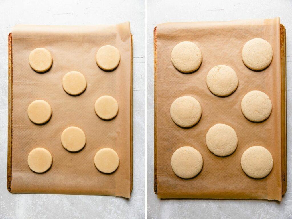 sugar cookie dough collage.