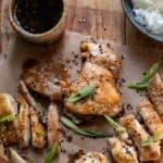 sticky honey garlic chicken.
