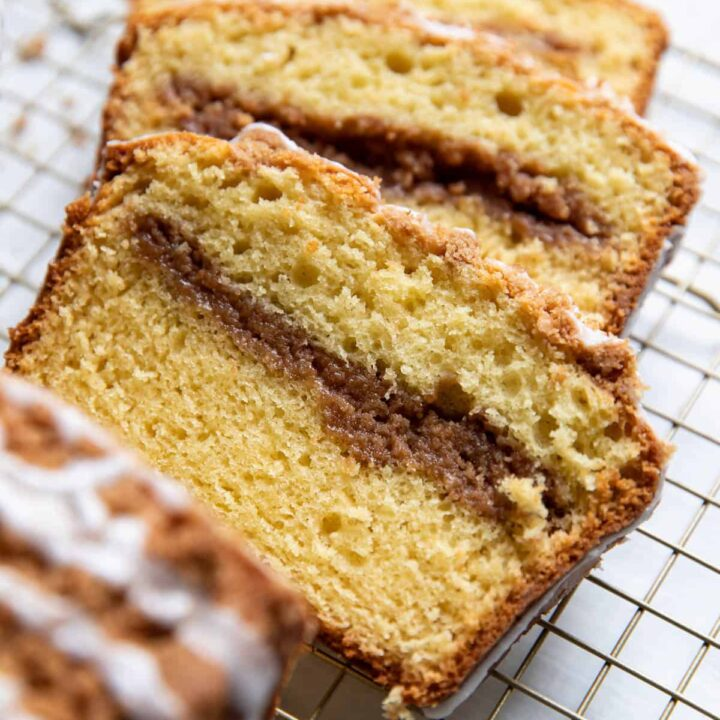 coffee cake loaf.