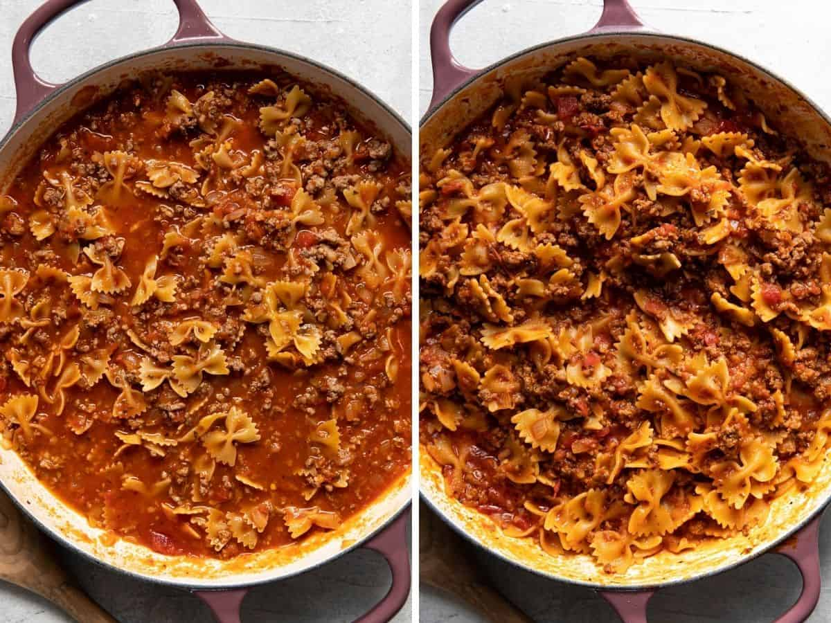 meat lovers pizza pasta bake.