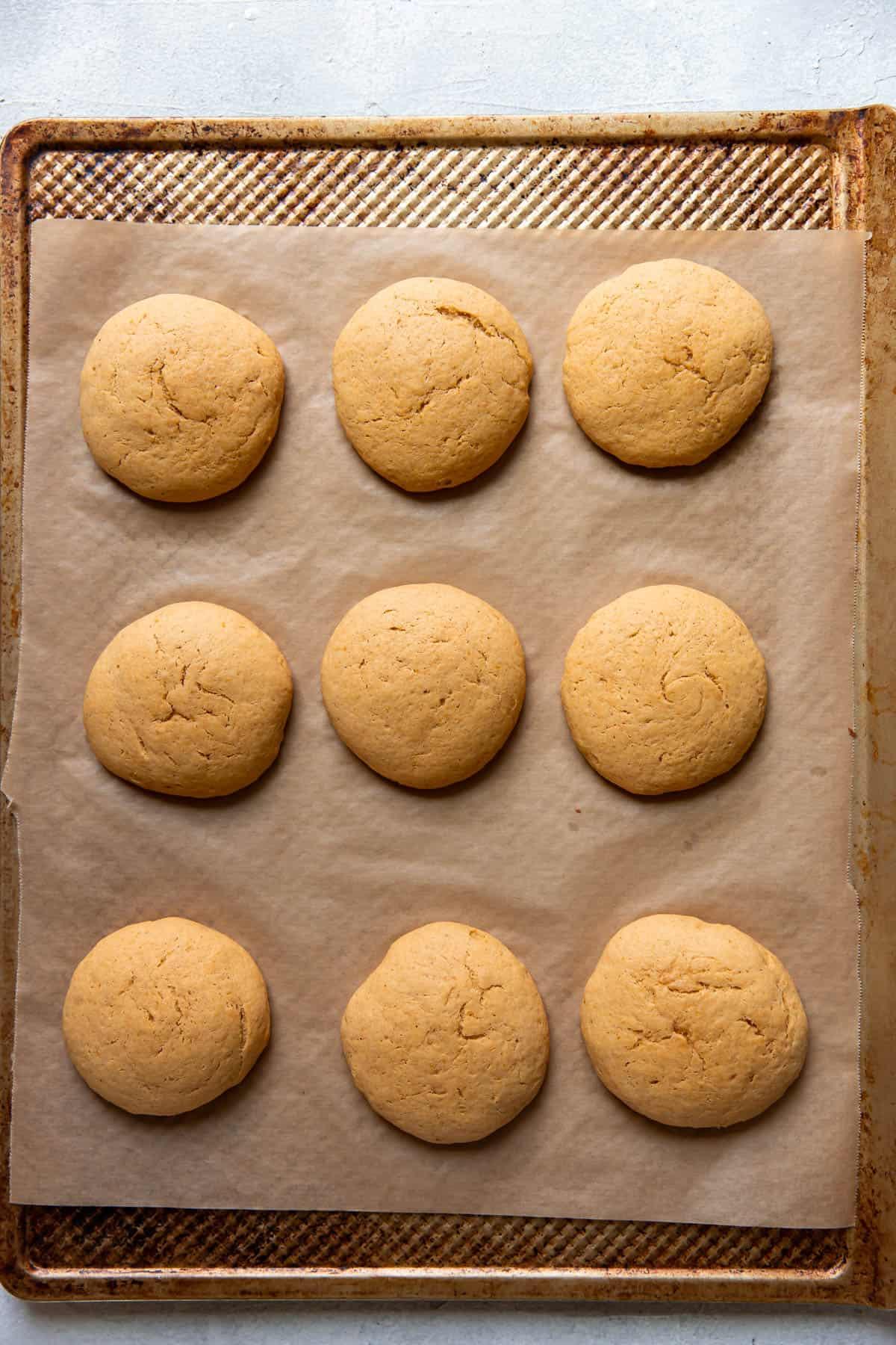 crumbl copycat pumpkin cake cookies.