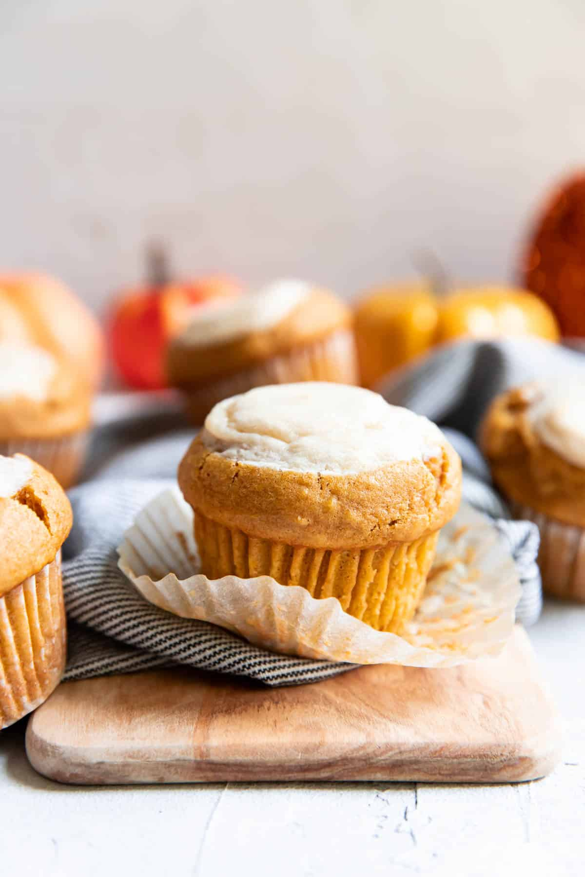 pumpkin cream cheese muffins.